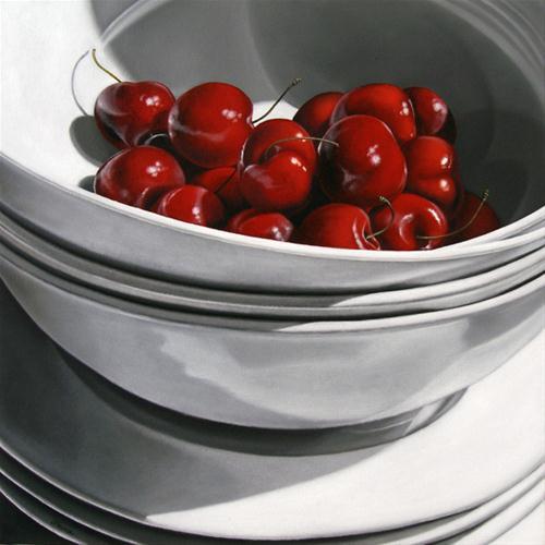 """Cherries III"" original fine art by Jelaine Faunce"