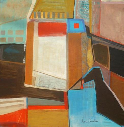 """Original Contemporary Geometric Abstract Art Painting The Big Topby Louisiana Artist Lou Jordan"" original fine art by Lou Jordan"
