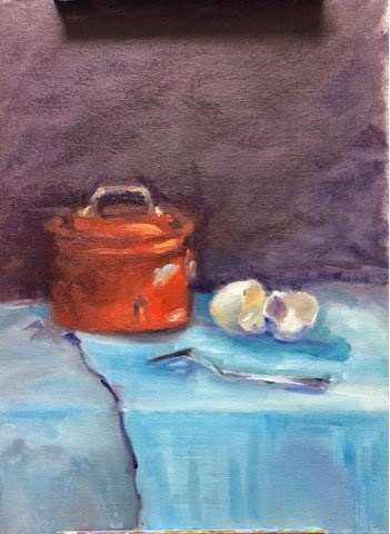 """Copper Pot"" original fine art by Peggy Schumm"