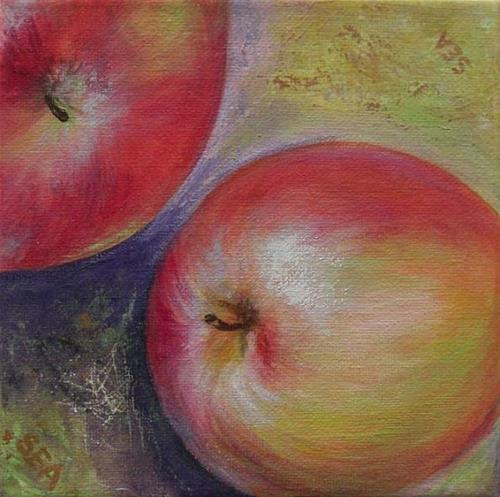 """2019 - An Apple a Day - Miniature Masterpiece"" original fine art by Sea Dean"
