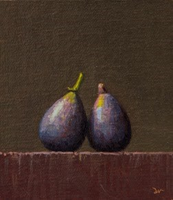 """Two Figs    (24-hour Auction)"" original fine art by Abbey Ryan"