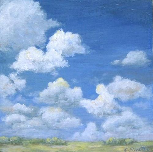 """Skyscape, Everglades"" original fine art by Keiko Richter"
