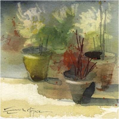 """patio 94"" original fine art by Emilio López"