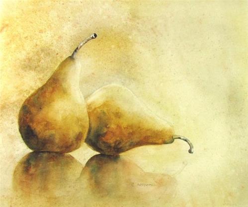 """""""Pair of Pears"""" original fine art by Corinne Aelbers"""