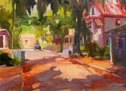 """Debbie Moore's House St Augustine, plein air, oil painting by Robin Weiss"" original fine art by Robin Weiss"