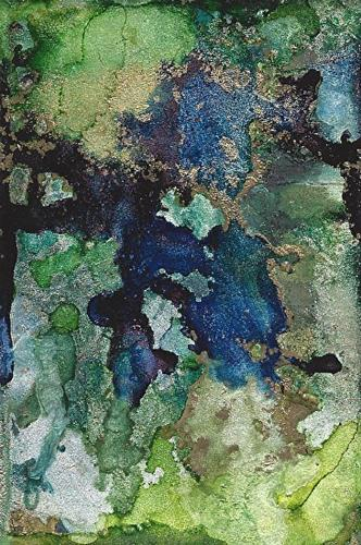 """Original Contemporary Abstract Mixed Media, Alcohol Ink Painting CLOISONNE #2 by Contemporary New"" original fine art by Lou Jordan"
