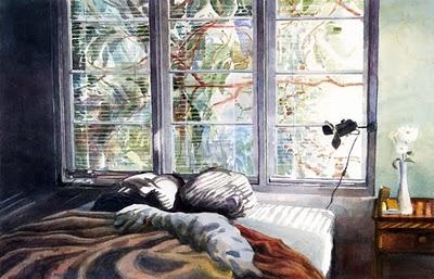 """Watercolor: Nested"" original fine art by Belinda Del Pesco"