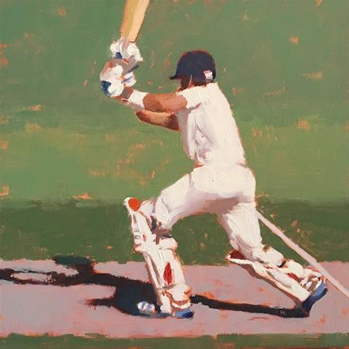 """BATSMAN SERIES #6 of 9"" original fine art by Helen Cooper"