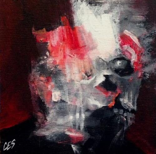 """Finding Francis Bacon"" original fine art by ~ces~ Christine E. S. Code"