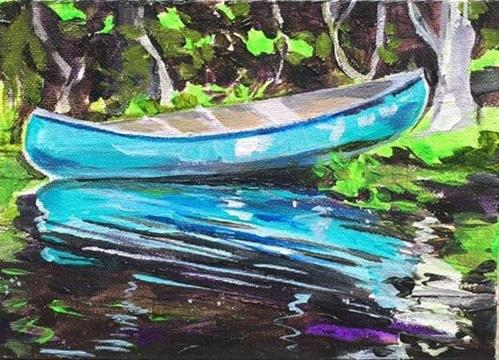 """Canoe Canoe?"" original fine art by Lauren Kuhn"