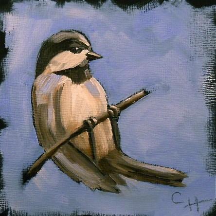"""My Little Chickadee"" original fine art by Claire Henning"
