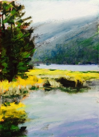 """PAULINA LAKE"" original fine art by Marti Walker"