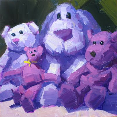 """PURPLE BEARS"" original fine art by James Coulter"