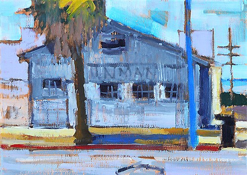 """Little Italy Warehouse San Diego"" original fine art by Kevin Inman"