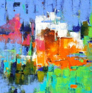 """Effusion"" original fine art by Elizabeth Chapman"
