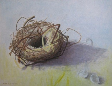"""The Nest II"" original fine art by Pera Schillings"