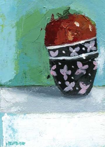 """Snug"" original fine art by Heather Bennett"
