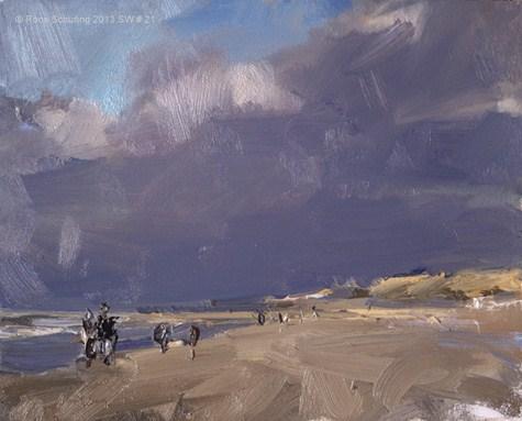 """Seascape winter 21 Light effects"" original fine art by Roos Schuring"