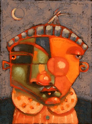 """Moonface"" original fine art by Brenda York"
