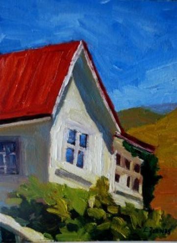 """California Ranch House"" original fine art by Liz Zornes"