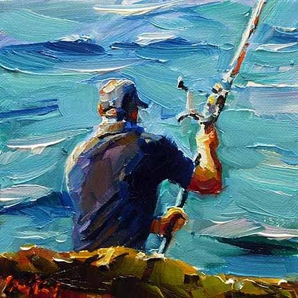 """Angler"" original fine art by Jurij Frey"