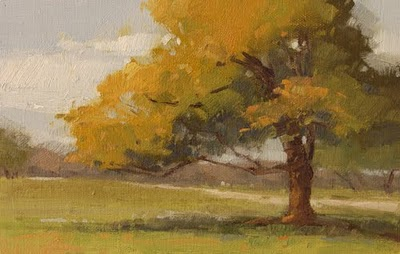 """Leaning Oak (Demo)"" original fine art by Laurel Daniel"