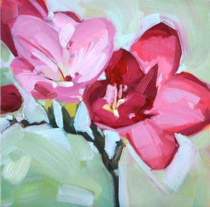 """Freesia"" original fine art by Jessica Green"