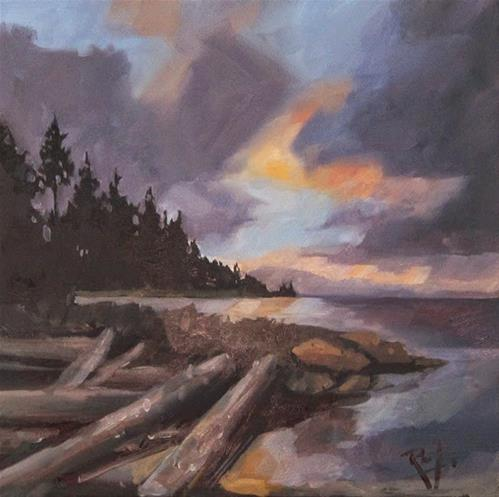 """No 757 End of the day"" original fine art by Robin J Mitchell"