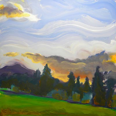 """Valley Storm 5"" original fine art by Pam Van Londen"