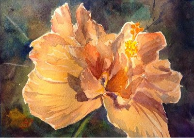 """Day 21 - Peachy Keen"" original fine art by Lyn Gill"