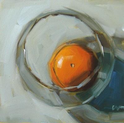 """Grapefruit in a Fish Bowl"" original fine art by Carol Marine"