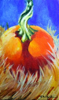 """October Orbs"" original fine art by JoAnne Perez Robinson"