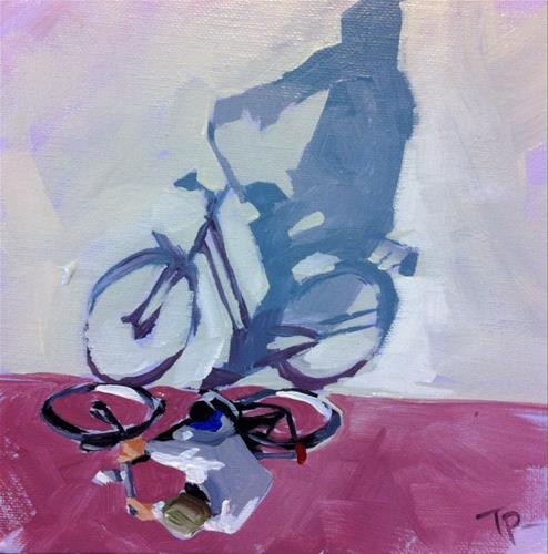 """Riding the Line"" original fine art by Teddi Parker"