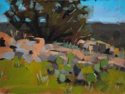 """Afternoon Cactus"" original fine art by Carol Marine"
