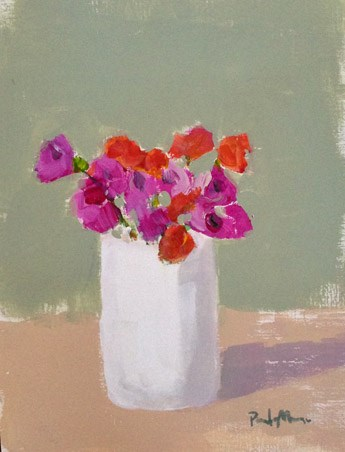 """Magenta and Orange"" original fine art by Pamela Munger"