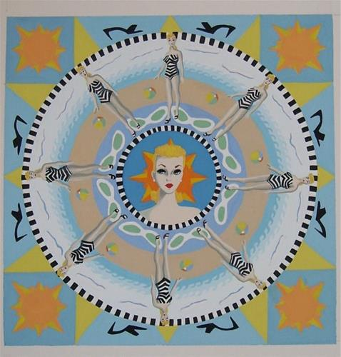 """Fashion Queen Mandala"" original fine art by Amy VanGaasbeck"
