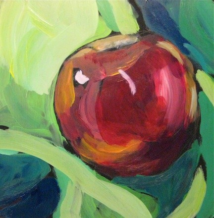 """Red & Green Study"" original fine art by Kat Corrigan"