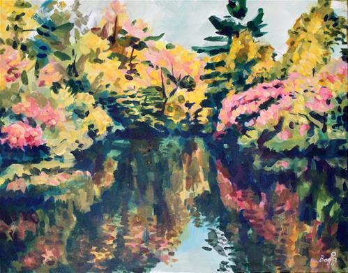 """Reflections at The Canal at Carleton U"" original fine art by Elbagir Osman"