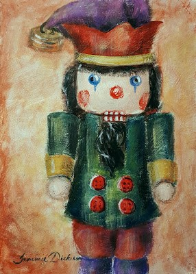 """Buttons Jester"" original fine art by Tammie Dickerson"