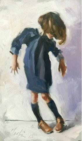 """New shoes"" original fine art by Chris Martin"