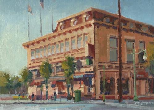 """Alameda Hotel"" original fine art by J. Thomas soltesz"