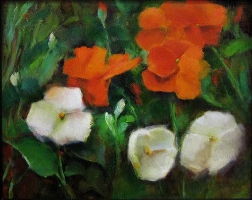 """""""Garden Flowers"""" original fine art by Sunkyung Choi"""