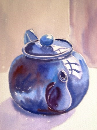 """Blue Teapot"" original fine art by Graham Findlay"
