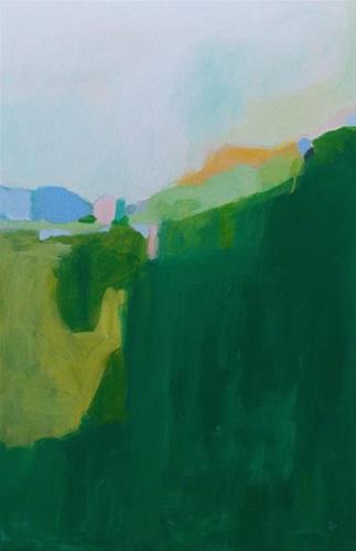 """Green Mountain"" original fine art by Pamela Munger"