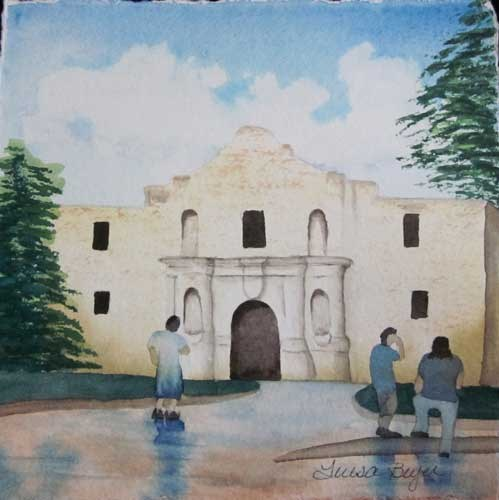 """The Alamo"" original fine art by Teresa Beyer"