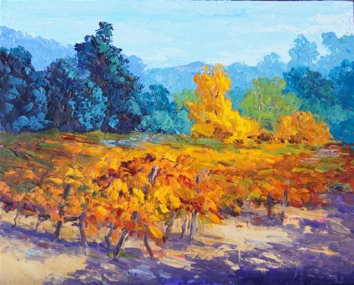 """Autumn Gold"" original fine art by Marion Hedger"
