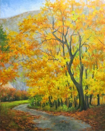 """""""'The Road to Heaven'An Original Oil Painting by Claire Beadon Carnell"""" original fine art by Claire Beadon Carnell"""