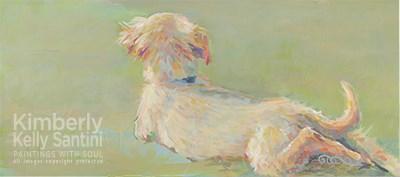 """""""Golden Butt"""" original fine art by Kimberly Santini"""