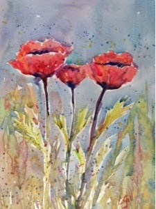 """Poppy Mood"" original fine art by Lyn Gill"