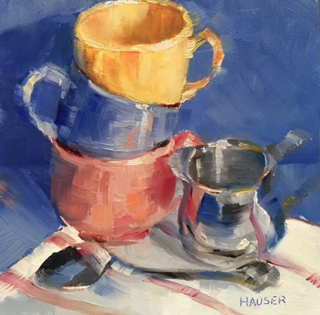 """""""Cup a Cup a Cup"""" original fine art by Alice Hauser"""